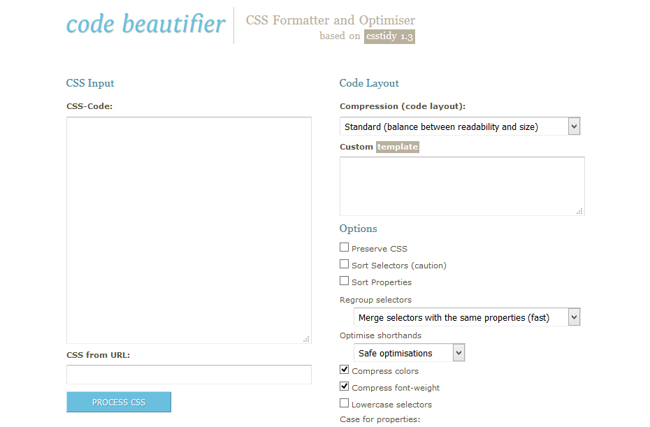 Code-Beautifier--CSS-Formatter-and-Optimiser