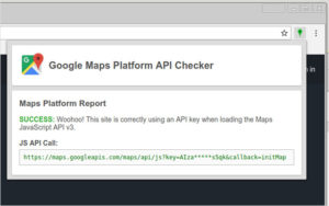 デバックに使えるChromeアドオン『Google Maps Platform API Checker』